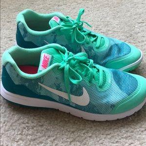 Turquoise Nike's
